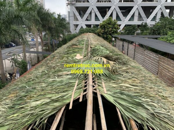 thi công nhà mái lá 1