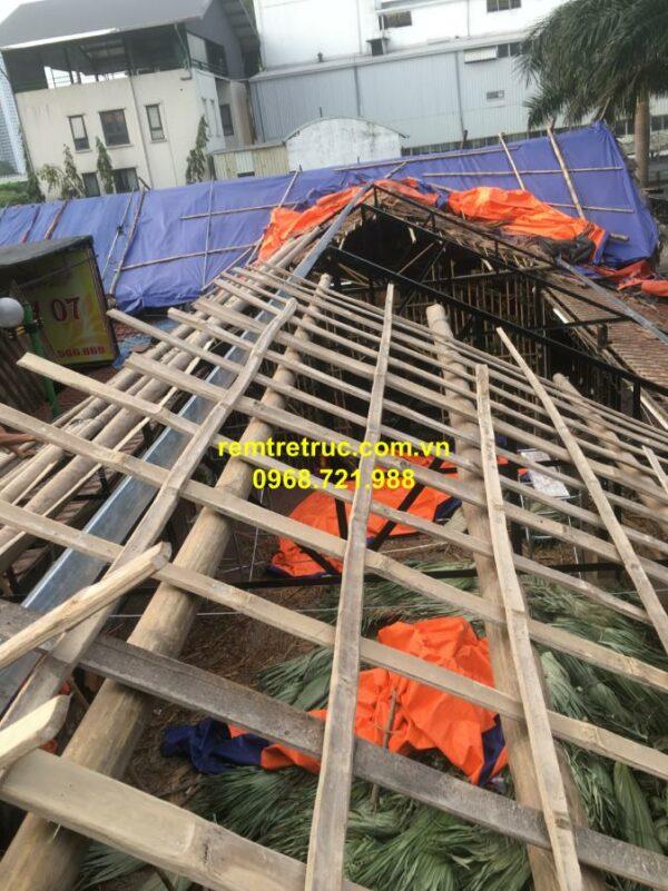 thi công nhà mái lá 3