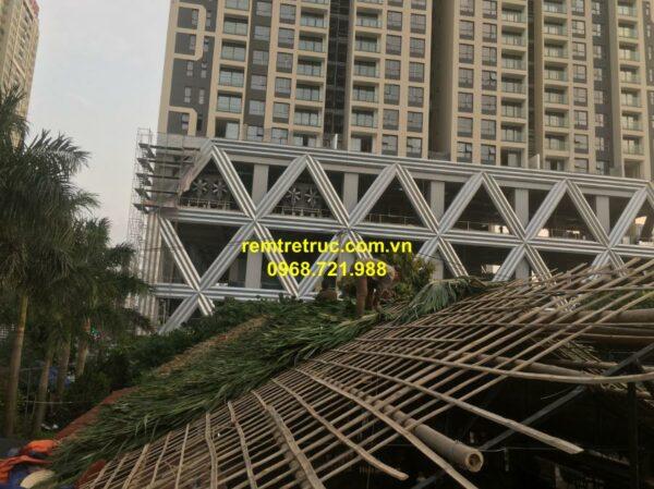 thi công nhà mái lá 4